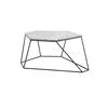 Grey Marble Six Sided Bunker Coffee Table On Wire Stand