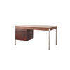 Rosewood Desk With Drop Down Drawers On Steel Legs