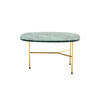Large Rect. Green Marble 'pod' Lamp Table On Gold Base