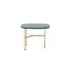Small Rect. Green Marble 'pod' Lamp Table On Gold Base