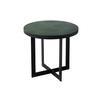 Medium Green Fern Lamp Table On Black Base ( H: 46cm Diam: 50cm)