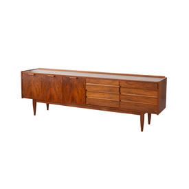 Rosewood 3 Door, 8 Drawer Sideboard