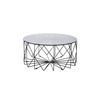 "Circ. Smoked Glass ""Vitro"" Coffee Table On Black Frame ( H: 42cm Diam: 90cm)"