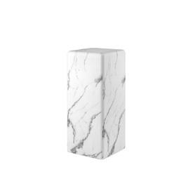 Small White Marble Effect Pedestal