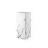 Small White Marble Effect Pedestal (33cm X 33cm X 61cm H)