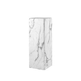 Medium White Marble Effect Pedestal