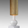 Small White Bulbous Based Table Lamp