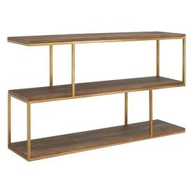 120Cm X 30Cm Conran Mango Wood & Brass Balance Console Table