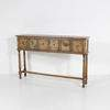 165cm 6 Drawer Distressed Hudson Bay Hall Table
