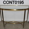 D End Brass And Bevelled Glass Vmf Ritz Console Table