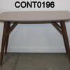 Grey Rect Lacq Splay Walnut Look Leg Gemma Vmf Console Table