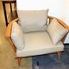 Low Banana Wooden Tub Patio Chair With Cushions