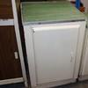 80 X 50 Cm Cream Metal One Door, Green Top Kitchen Base Unit