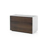 American Black Walnut Ali Ribbed 2 Drawer Small Sideboard
