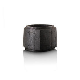 "Black Marble Square ""Cong"" Bowl"
