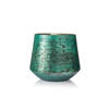 Small Aged Green Glass Candle Holder