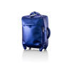 Exotic Blue Leatherette 'miss Plume' Trolley Case