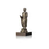 Medium Standing Silver Buddha On Wooden Base