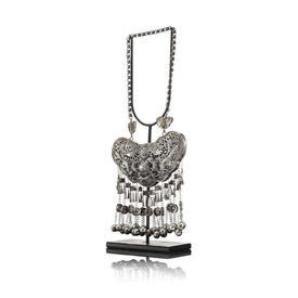 Large Miao Tribe Necklace on Stand