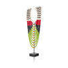 Black, Red & Green Ethnic Necklace On Stand