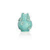 Blue Floral Embossed Small Vase