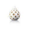 Medium White Wooden Spotty Bulbus Vase