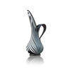 Medium Black & White Glass Jug Vase