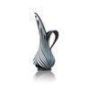 Medium Black & White Glass Jug Vase