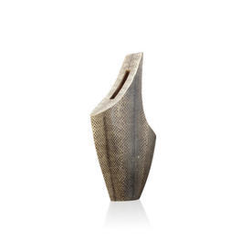 Medium Slanted Top Snake Skin Vase