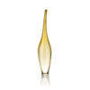 Amber Gold Curved Neck ' Aya ' Glass Bottle Vase