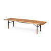 Teak Long Coffee Table With Brass Egde