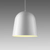 White Gloss 'can Can' Hanging Lamp