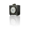 Square Black & Gold Carriage Clock