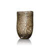 Large Oval Gold Bubbled Glass 'sablon' Vase