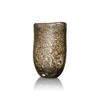 Large Oval Gold Bubbled Glass 'sablon' Vase