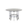 Circ Chrome Merrow Dining Table With Glass Top ( H: 72cm Diam: 122cm)