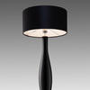 Black Glass & Chrome 'mono' Table Lamp & Shade