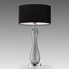 Shaped Smoked Bubbled Glass 'fado' Table Lamp