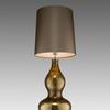 Gold Mottled Glass 'bohemia' Shaped Table Lamp & Shade
