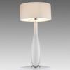 White Glass & Chrome 'mono' Table Lamp & Shade