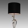 Nickel Abstract 'agata' Table Lamp & Shade
