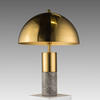 Grey Marble & Brass 'flair' Table Lamp With Domed Shade