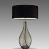 Smoked Glass 'fabien' Teardrop Table Lamp & Shade