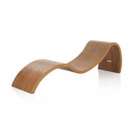 Curved Striped Wood Chaise