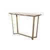 Aged Gold Emperor Console Table With Brown Marble Top