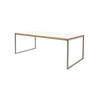 Rect. White Top & Steel Como Coffee Table (60 Cm X 120 Cm )