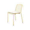 Gold Wire Dining Chair With Pale Gold Fabric Seat