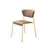 Bronze Velvet 'lisa' Dining Chair On Gold Frame