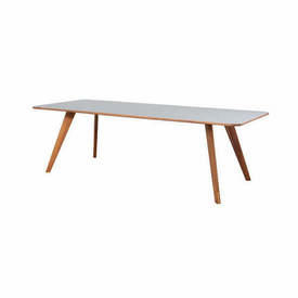 "Oak Leg ""Mood"" Dining Table with Grey Top"