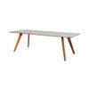 "Oak Leg ""Mood"" Dining Table With Grey Top ( H: 73cm L: 235cm W: 95cm )"